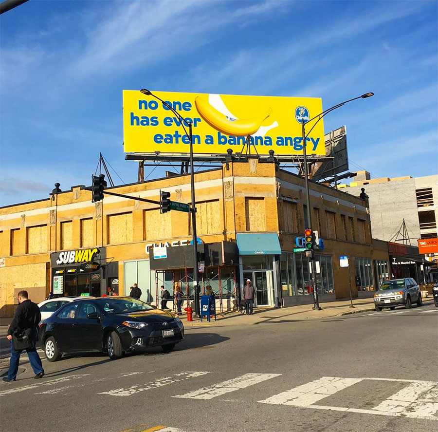 Justin Fantl, Giant Artists, Chiquita, banana, bananas, billboard, advertisement, street art