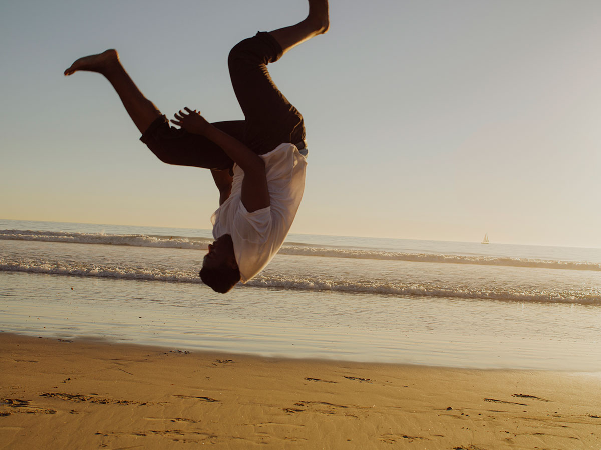 Collin Erie, Beach, Flip, Backflip, Summer, Summer vibes